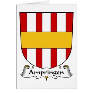 Escudo de la familia de Ampringen Tarjeta De Felicitación