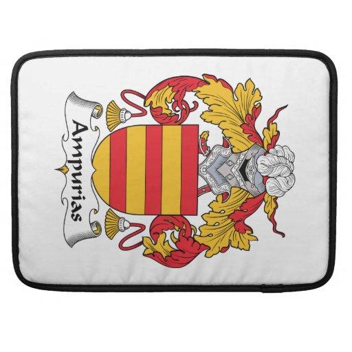 Escudo de la familia de Ampurias Fundas Para Macbooks