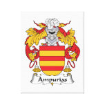 Escudo de la familia de Ampurias Impresiones En Lienzo Estiradas