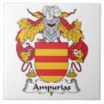 Escudo de la familia de Ampurias Teja