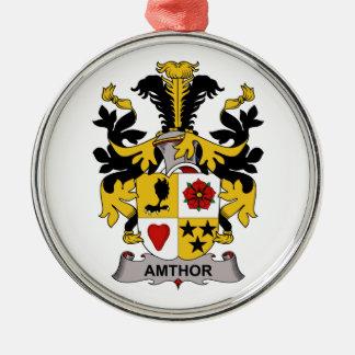 Escudo de la familia de Amthor Adorno Redondo Plateado