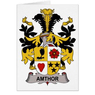 Escudo de la familia de Amthor Tarjeta De Felicitación