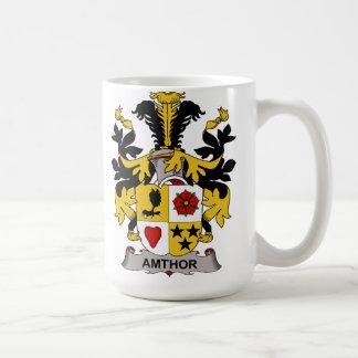 Escudo de la familia de Amthor Taza De Café