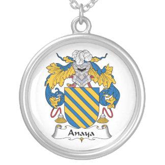 Escudo de la familia de Anaya Collar Plateado