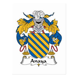 Escudo de la familia de Anaya Postales