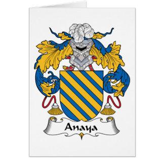 Escudo de la familia de Anaya Tarjeta De Felicitación