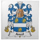 Escudo de la familia de Ancel Servilleta De Papel