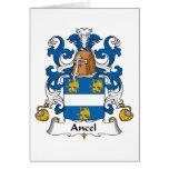 Escudo de la familia de Ancel Tarjeta