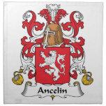 Escudo de la familia de Ancelin Servilletas De Papel