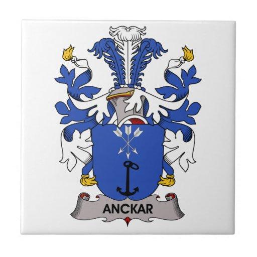 Escudo de la familia de Anckar Azulejo Cerámica