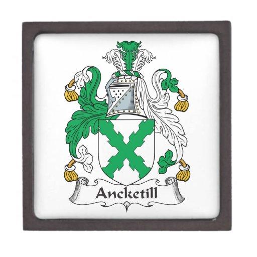 Escudo de la familia de Ancketill Cajas De Recuerdo De Calidad