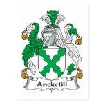 Escudo de la familia de Ancketill Postal
