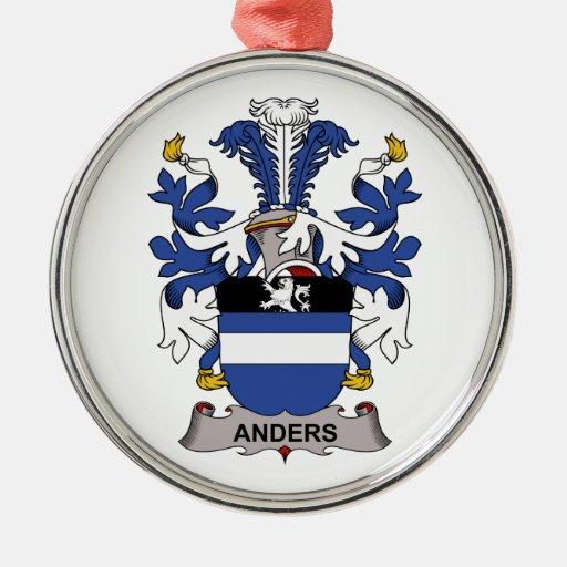 Escudo de la familia de Anders Adorno Redondo Plateado