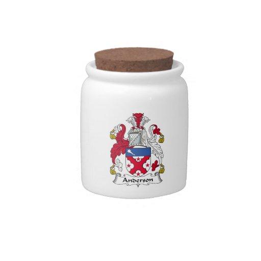 Escudo de la familia de Anderson Jarras Para Caramelos