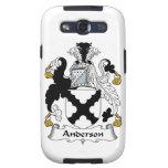 Escudo de la familia de Anderson Samsung Galaxy S3 Protector