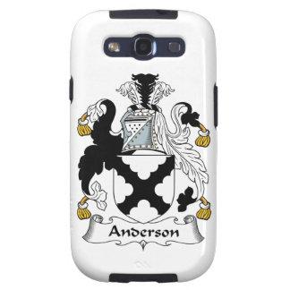 Escudo de la familia de Anderson Galaxy SIII Coberturas