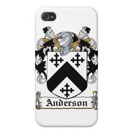 Escudo de la familia de Anderson iPhone 4 Coberturas