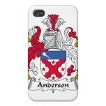 Escudo de la familia de Anderson iPhone 4/4S Carcasas