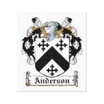 Escudo de la familia de Anderson Impresión De Lienzo