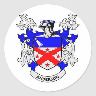 Escudo de la familia de Anderson Pegatinas Redondas