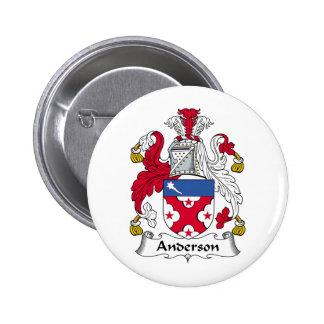 Escudo de la familia de Anderson Pin Redondo 5 Cm