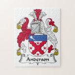 Escudo de la familia de Anderson Puzzles Con Fotos