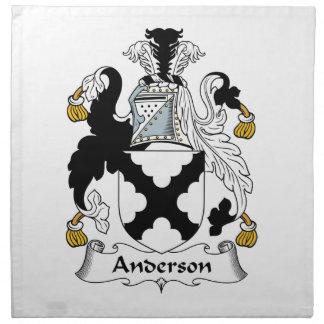 Escudo de la familia de Anderson Servilleta