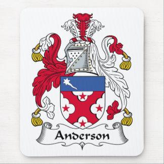 Escudo de la familia de Anderson Alfombrilla De Ratones