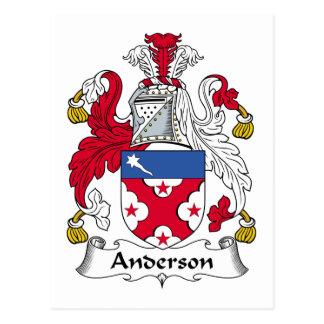 Escudo de la familia de Anderson Tarjeta Postal
