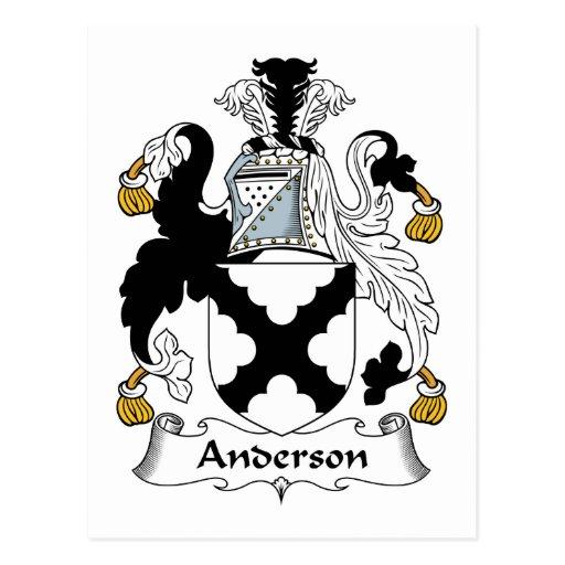 Escudo de la familia de Anderson Tarjetas Postales