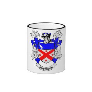 Escudo de la familia de Anderson Tazas De Café