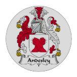 Escudo de la familia de Andesley Juego De Fichas De Póquer