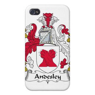 Escudo de la familia de Andesley iPhone 4 Protector