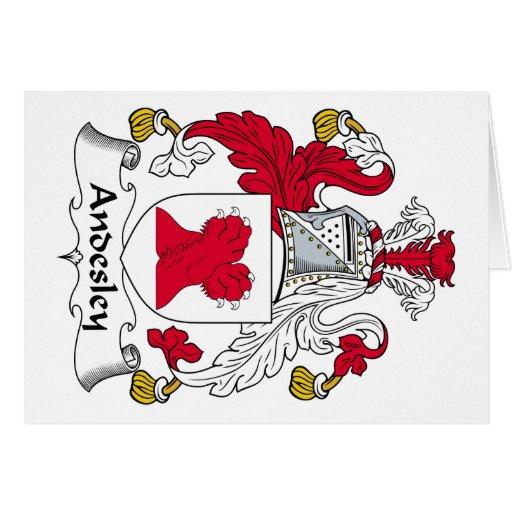 Escudo de la familia de Andesley Tarjeta De Felicitación