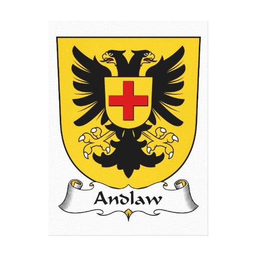 Escudo de la familia de Andlaw Impresión En Lona Estirada