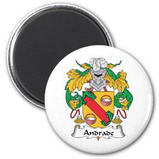 Escudo de la familia de Andrade Imán Redondo 5 Cm