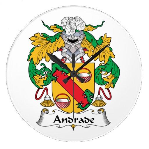 Escudo de la familia de Andrade Reloj Redondo Grande