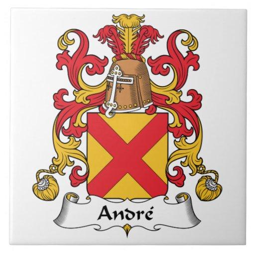Escudo de la familia de Andre Azulejo Cuadrado Grande