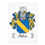 Escudo de la familia de Andrea Anuncios Personalizados