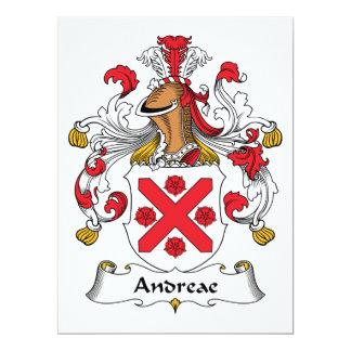"""Escudo de la familia de Andreae Invitación 6.5"""" X 8.75"""""""