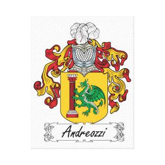 Escudo de la familia de Andreozzi Impresión En Lona