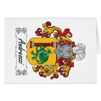 Escudo de la familia de Andreozzi Tarjeta De Felicitación