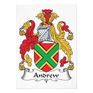 Escudo de la familia de Andrew Comunicados