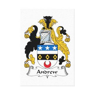Escudo de la familia de Andrew Lona Envuelta Para Galerias