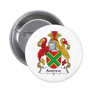 Escudo de la familia de Andrew Pin Redondo 5 Cm