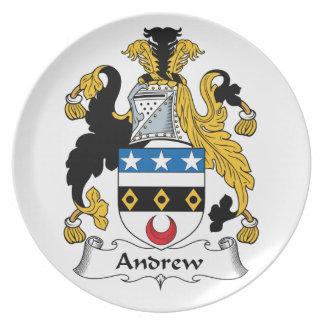 Escudo de la familia de Andrew Plato Para Fiesta