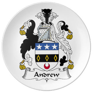 Escudo de la familia de Andrew Plato De Cerámica