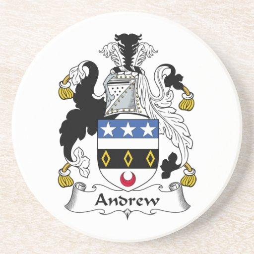 Escudo de la familia de Andrew Posavasos Para Bebidas