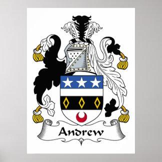 Escudo de la familia de Andrew Póster