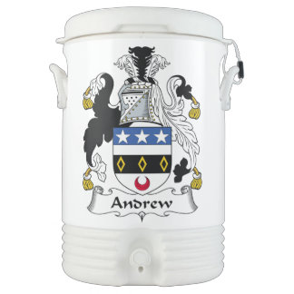 Escudo de la familia de Andrew Refrigerador De Bebida Igloo
